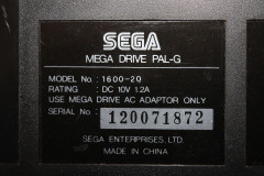 Sega Mega Drive (tech plate)