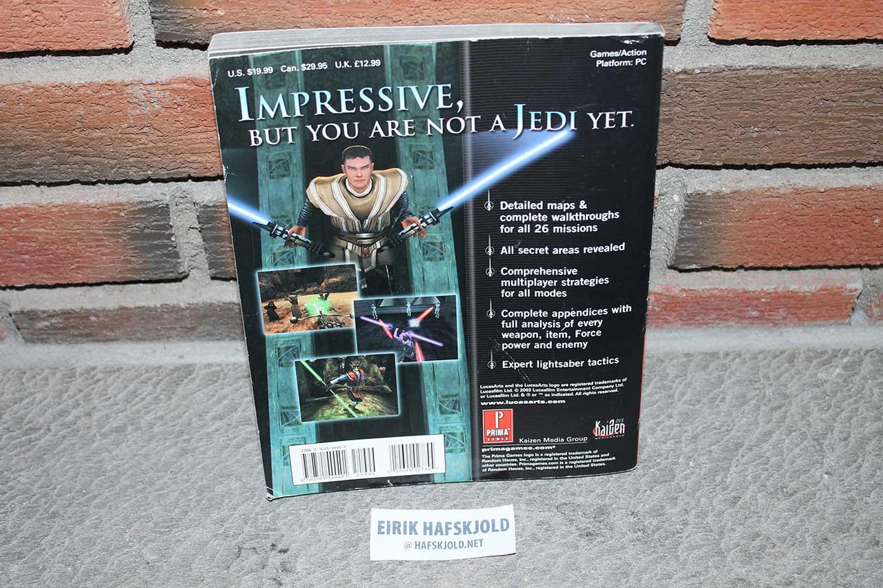 Star Wars Jedi Knight: Jedi Academy (Prima's Official Strategy Guide back cover)