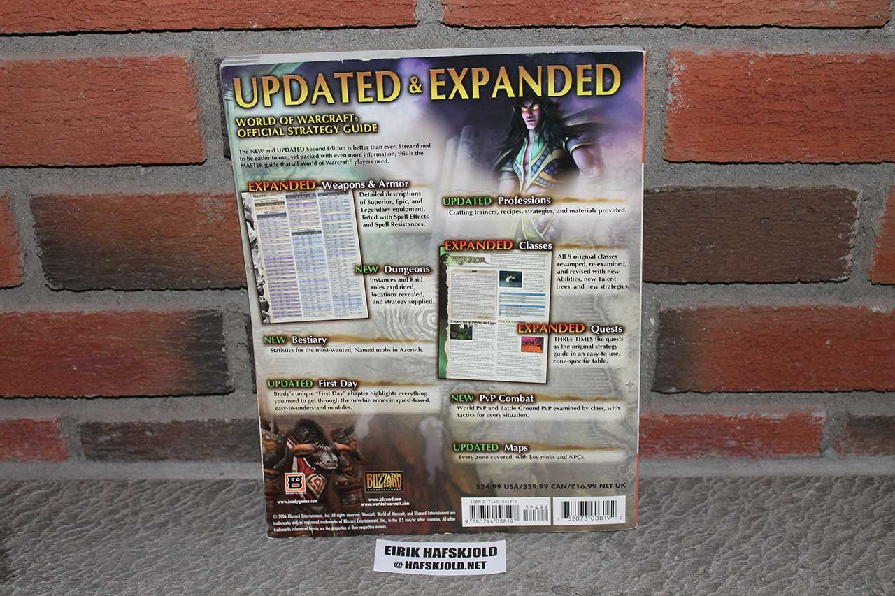 World of Warcraft - Master Guide Second Edition (back cover)